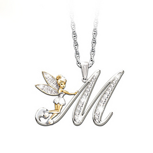 Personalized Necklaces Of Your Initial And Tinker Bell