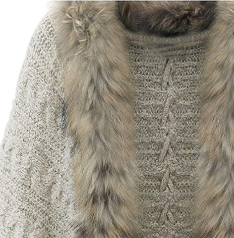Knitted fur sweater