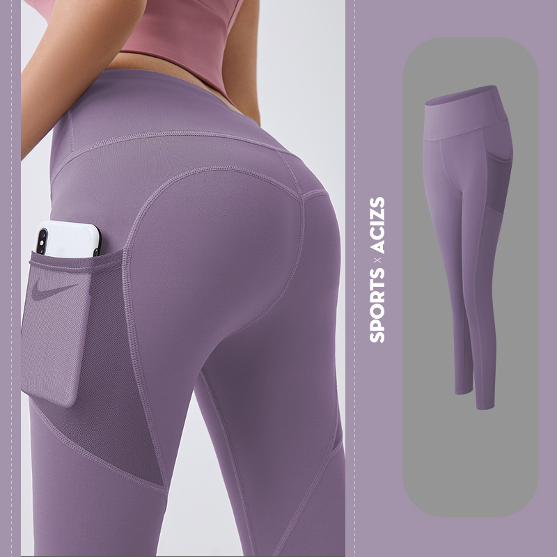 Mesh side pocket legging yoga pants