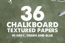 Load image into Gallery viewer, Chalkboard Textures and Backgrounds
