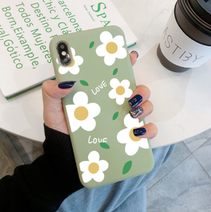 Soft Spring Silicone Daisy Cartoon Iphone Case