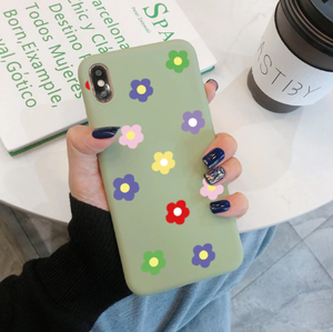 Soft Spring Silicone Flowers Iphone Case
