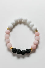 Load image into Gallery viewer, Glam Jade and Lava Bead Diffuser Bracelet