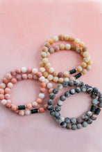 Load image into Gallery viewer, Earthy Matte Jade and Lava Stone Diffuser Bracelet