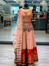 Load image into Gallery viewer, Peach & Red Anarkali
