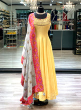 Load image into Gallery viewer, Sweet Yellow Anarkali