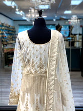 Load image into Gallery viewer, Natural White Anarkali