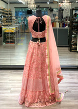 Load image into Gallery viewer, Beaded Pink Lengha