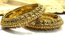 Load image into Gallery viewer, Mehandi Gold Bangles