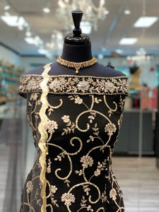 Evergreen Black Sharara