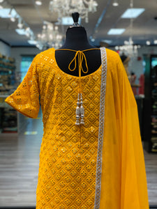 An Elegant Yellow Gharara