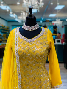 Sequins Yellow Gharara