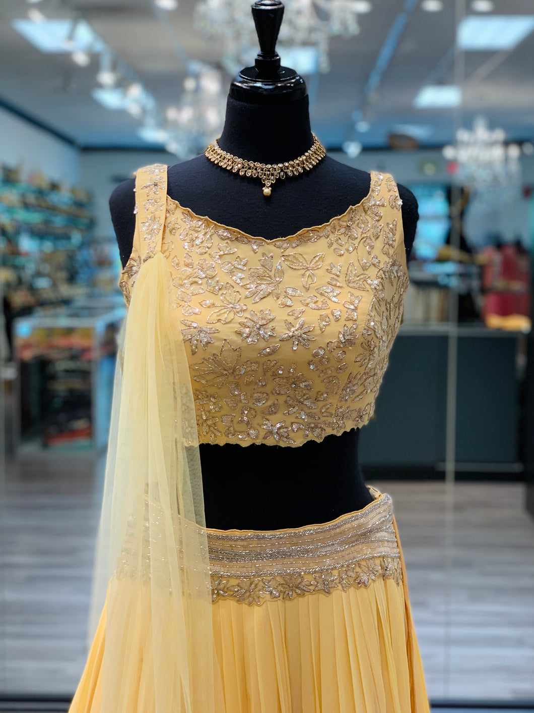 Baby Yellow Lengha