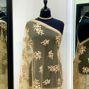 Gold Embroidered Dupatta