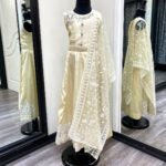 Load image into Gallery viewer, Girls Anjali Cream Lace Anarkali