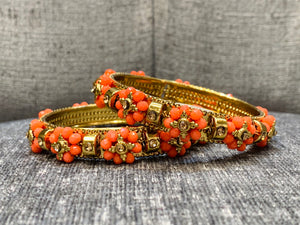 Coloured Flower Bangles