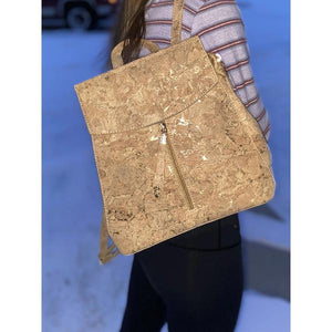 Exclusive Cork & Metallic Gold Backpack - Hope's Hidden Treasures