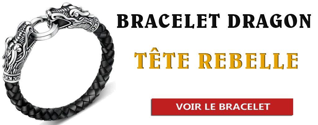 Bracelet dragon tête rebelle
