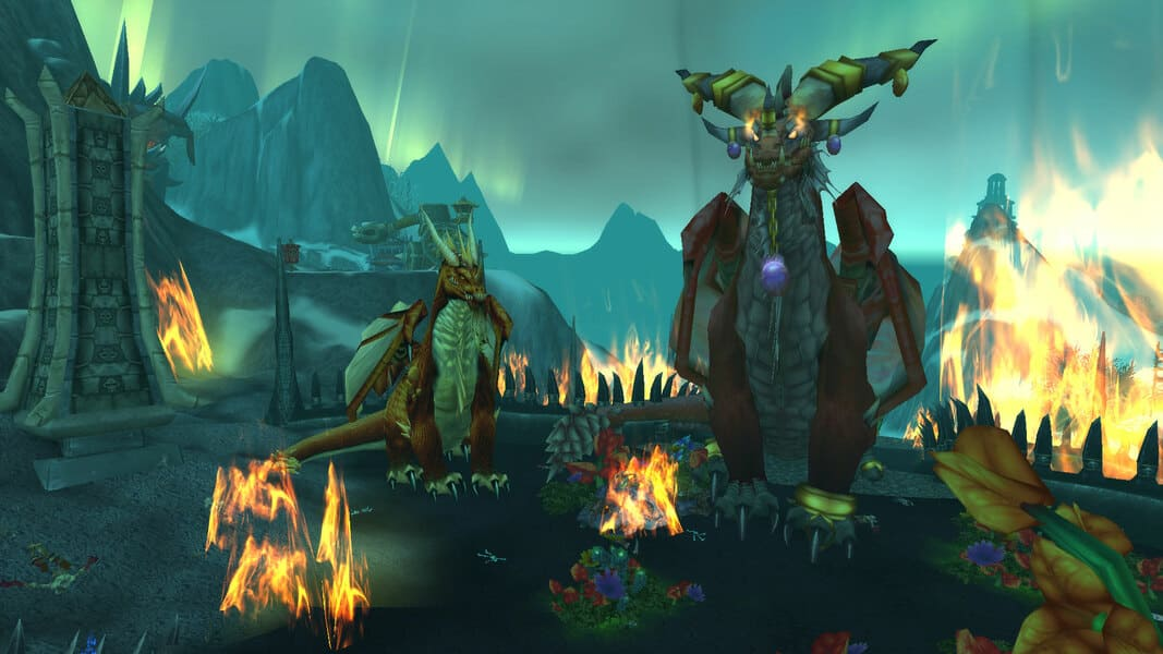 World of Warcraft Dragon Lore Krasus et Alexstrasza 2
