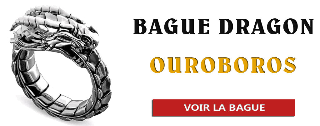 Bague dragon ourobros