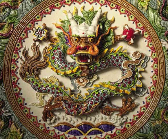 Dragon dans l'art de Chine