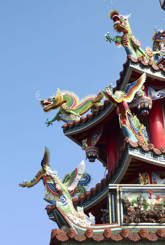 Dragons sur un Temple Taoïste