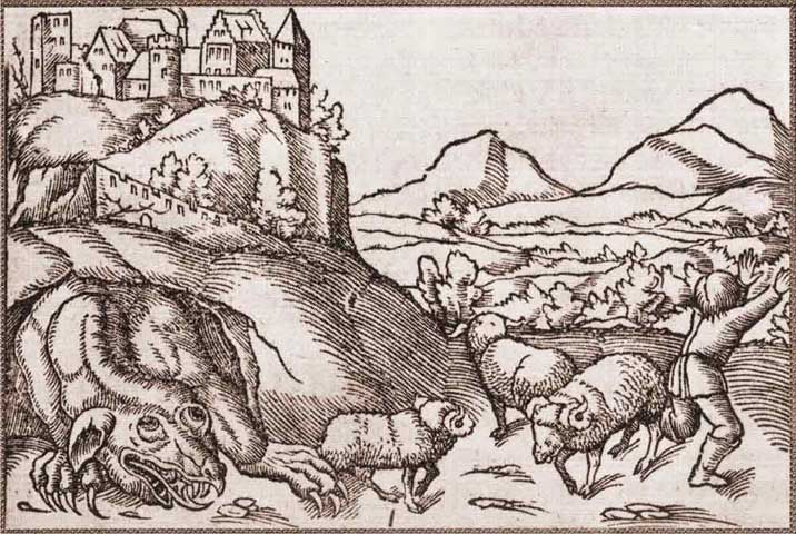 Illustration de la légende du Dragon de Wawel