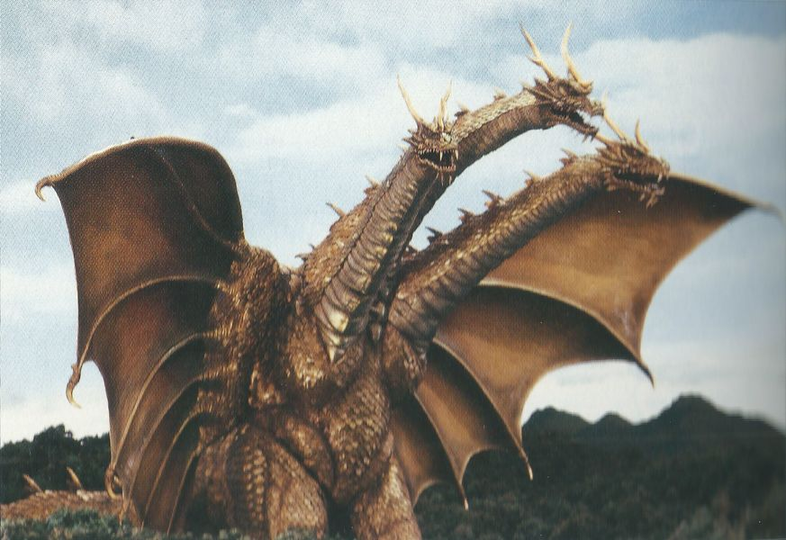 Le fameux dragon King Ghidorah