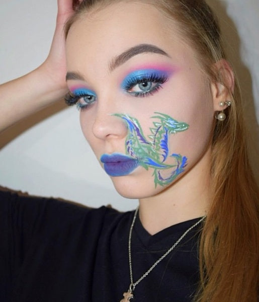 Maquillage dragon et yeux