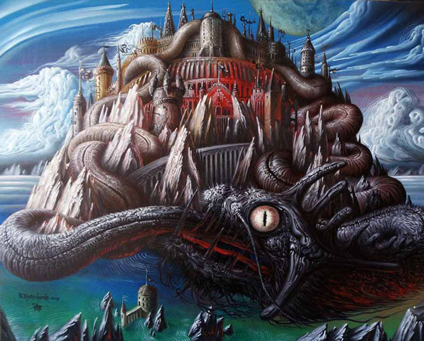 Le serpent gigantesque Jormungand