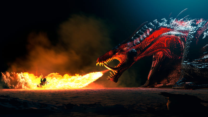 Un splendide Dragon de Flammes