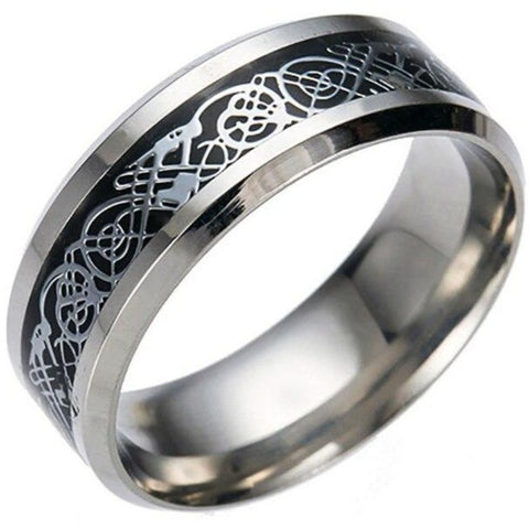 Bague Dragon Celtique