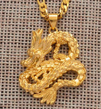 Collier Dragon Or