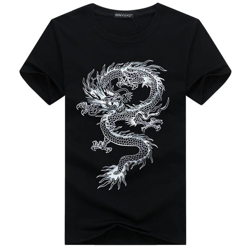 T-Shirt Dragon Chinois Homme