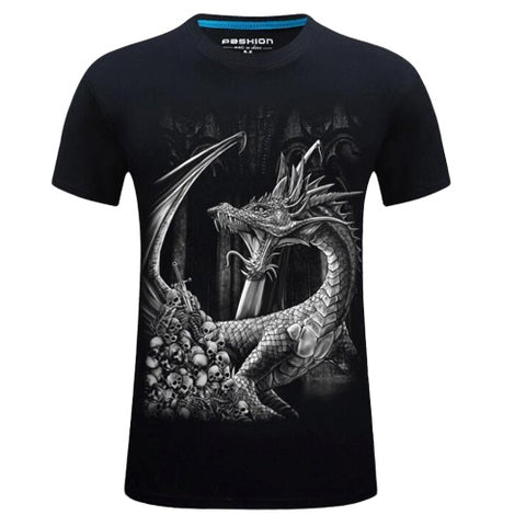 T-Shirt Gothique Dragon