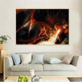 Tableau Dragon Flamme