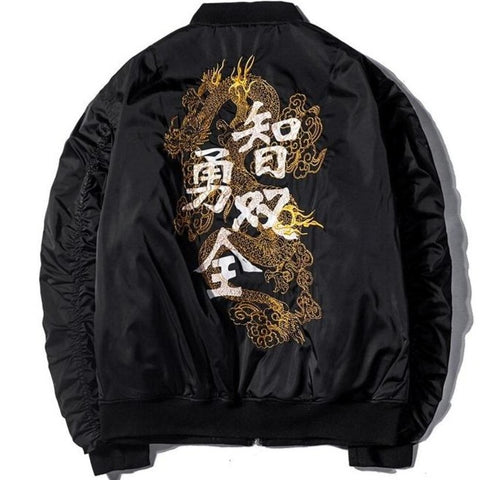 Veste Dragon Noir