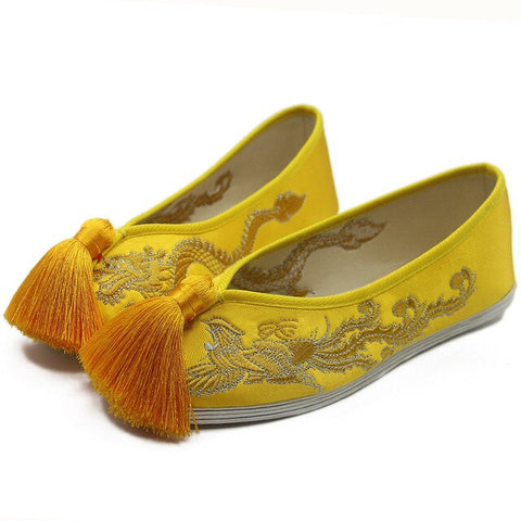 Chaussure Jaune Moutarde Femme