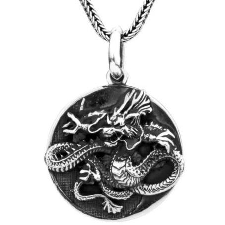 Pendentif Dragon Chinois Argent