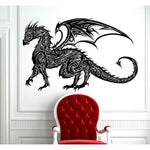 Stickers Mural Dragon Tribal