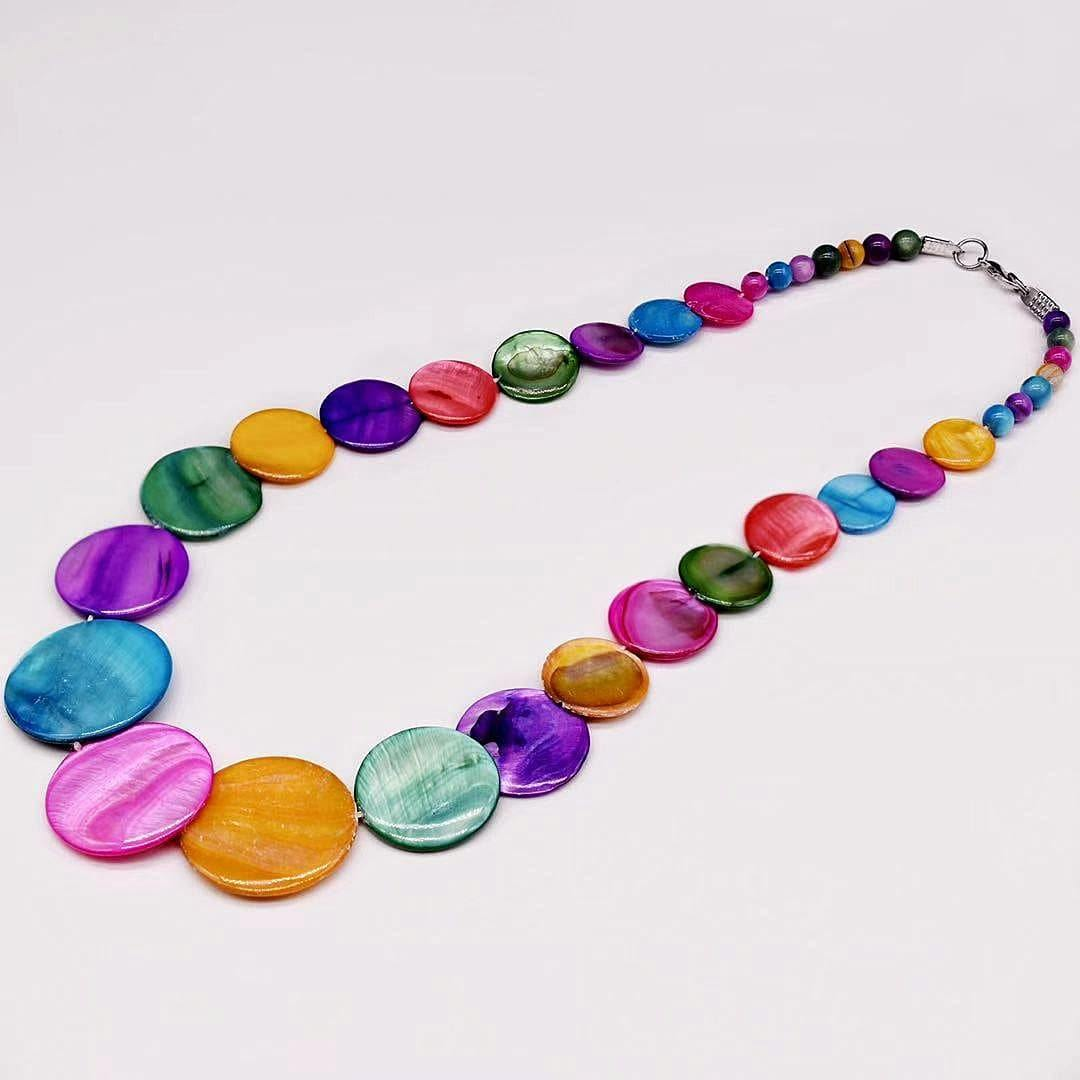 Mother of Pearls Necklace - Circle - Akuna Pearls