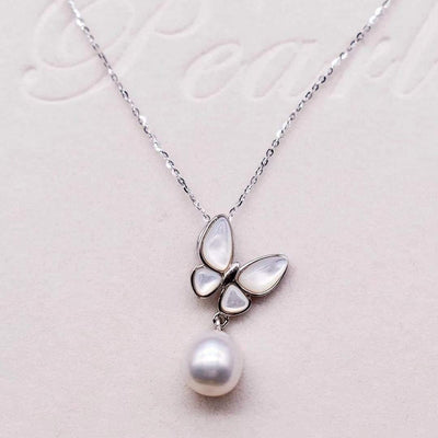 Freshwater Pearl Pendant Necklace - Annabella - Akuna Pearls