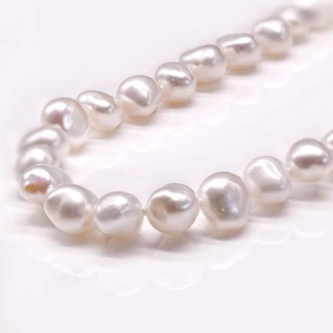 Classic Freshwater Pearl Necklace Side Flatted - Mini Rama - Akuna Pearls