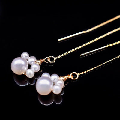 Freshwater Pearl Earrings - Cat Paws - Akuna Pearls