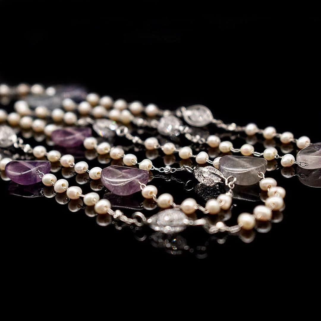 Freshwater Pearl Long Necklace - Berengaria | Akuna Pearls | Freshwater Pearl Jewellery | Made in Australia