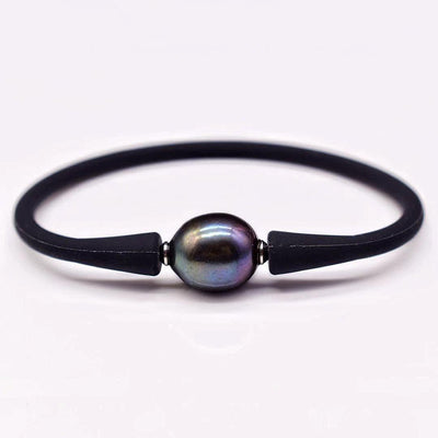 Freshwater Pearl Silicon Bracelet - Willa Oval - Akuna Pearls