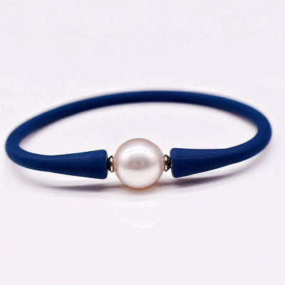 Freshwater Pearl Silicon Bracelet - Willa - Akuna Pearls
