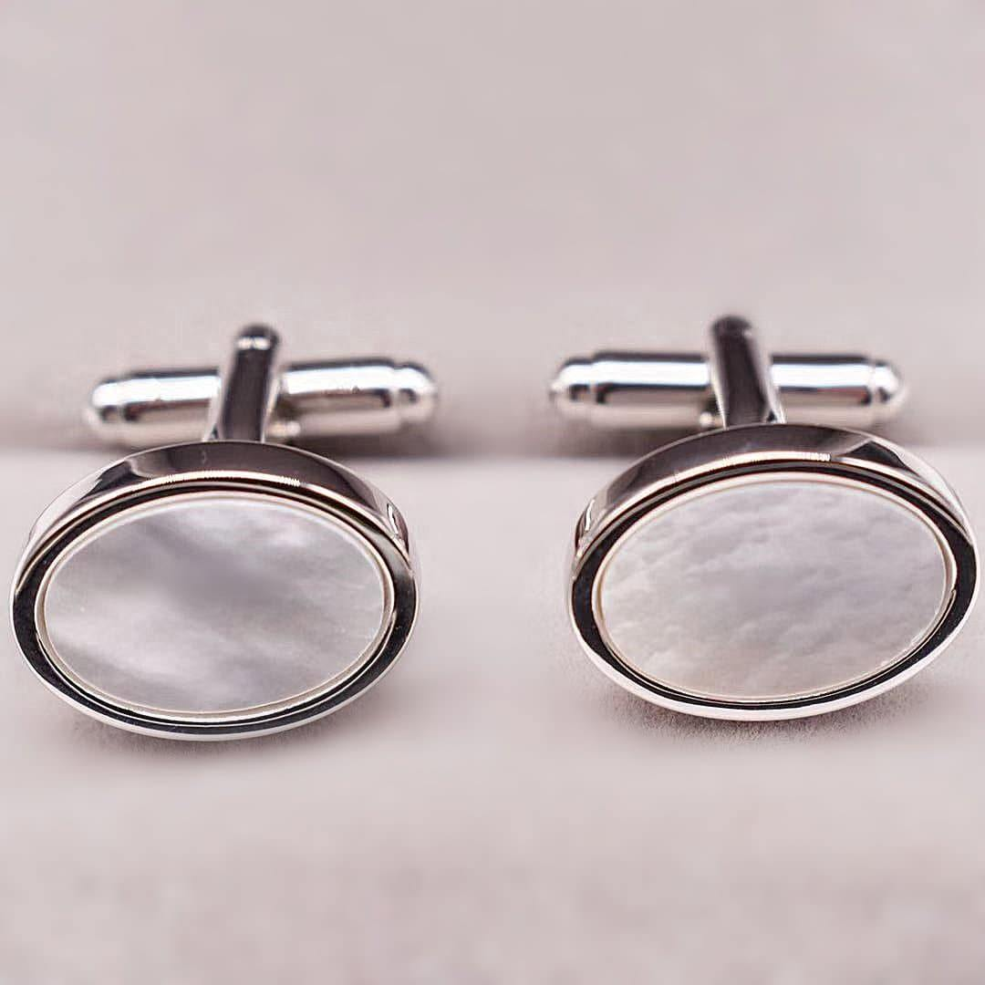 Mother of Pearls Cufflinks - Arion - Akuna Pearls