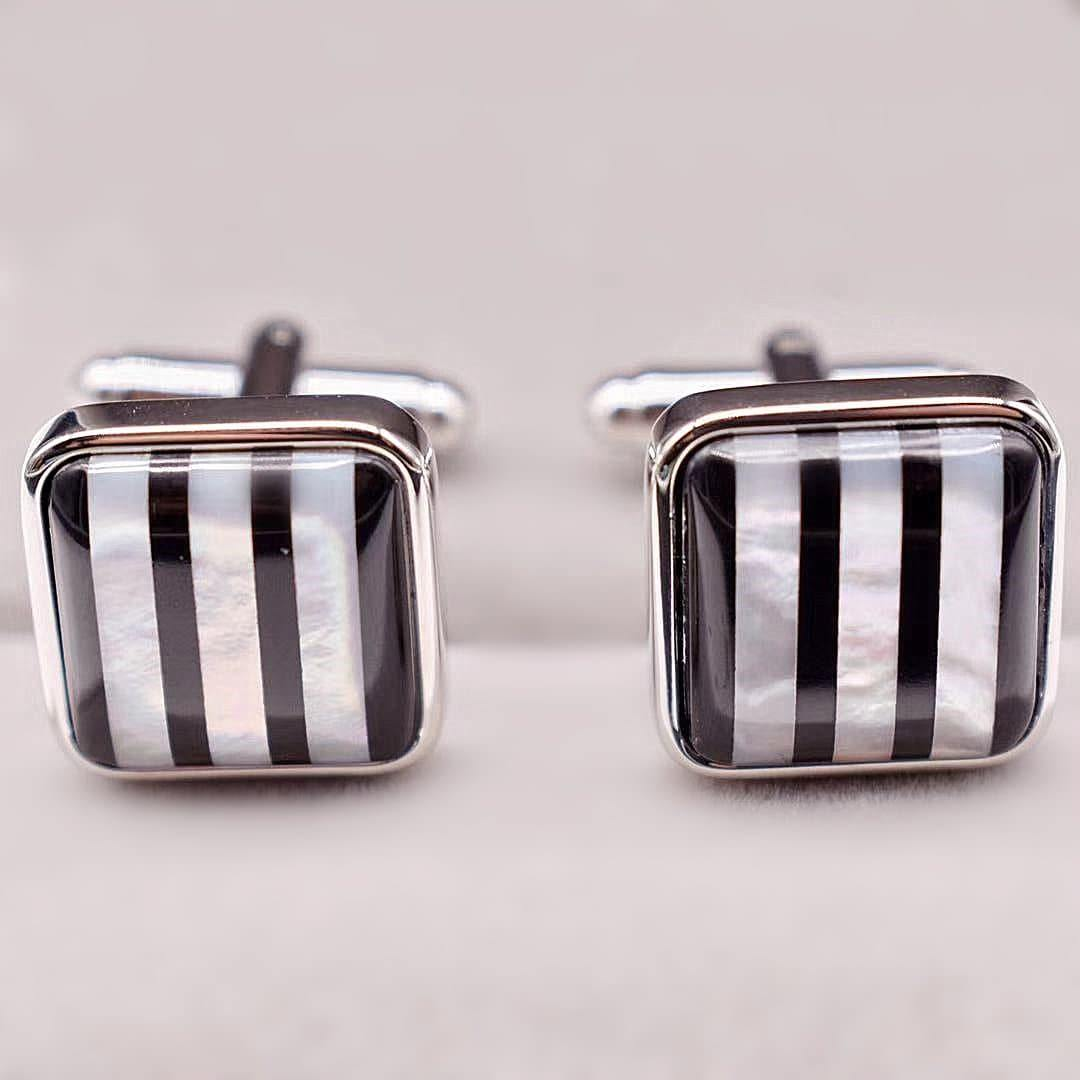 Mother of Pearls Cufflinks - Silas - Akuna Pearls