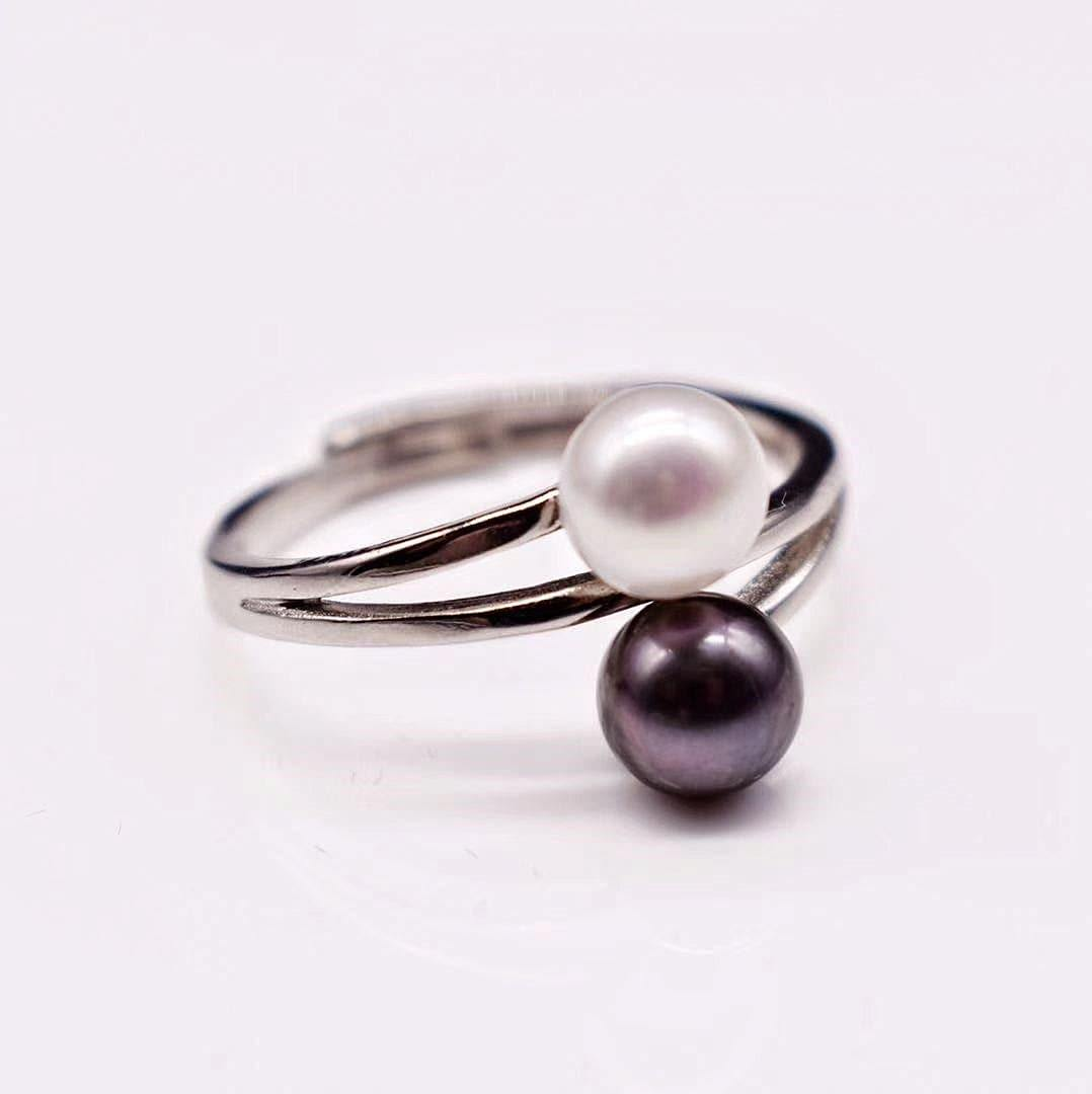 Freshwater Pearl Open Ring - Stacia - Akuna Pearls